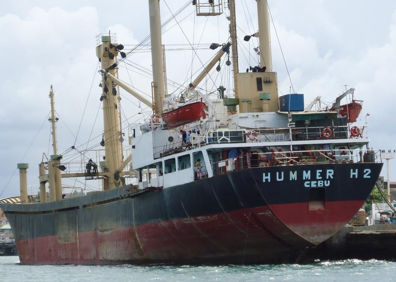 container ship docked at Legazpi (Bicol) port