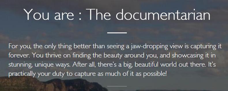 documentarian traveller