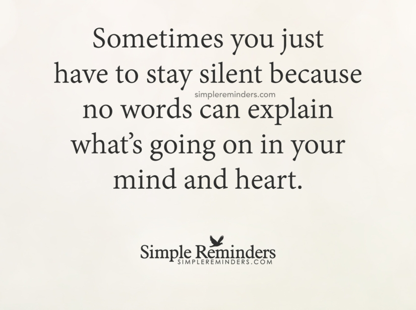 being silent quote