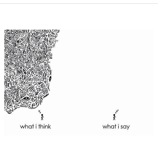 Thinking vs speaking