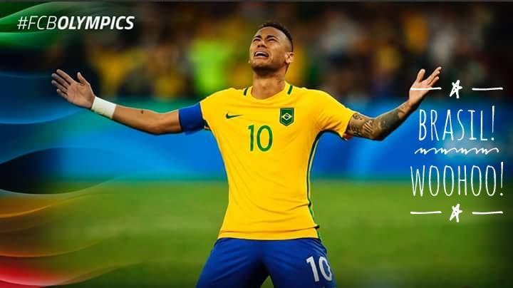 Neymar Jr. wins gold Olympics 2016