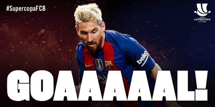 Lionel Messi Spanish Super Cup 2016
