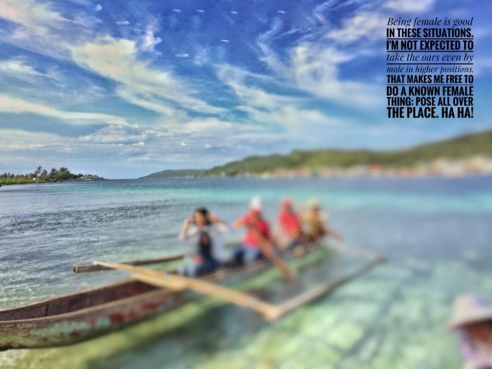 Boating between islet barangays, Biri, Northern Samar