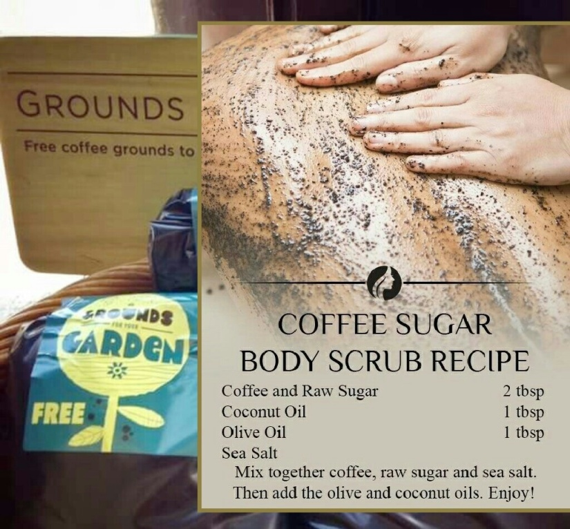 coffee body scrub from Starbucks' coffee grounds