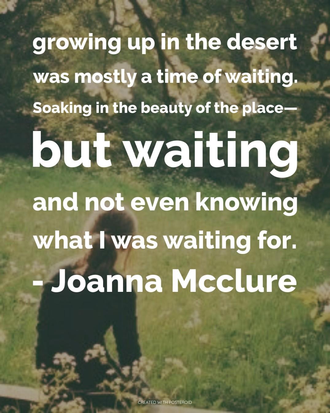Joanna mcclure poem