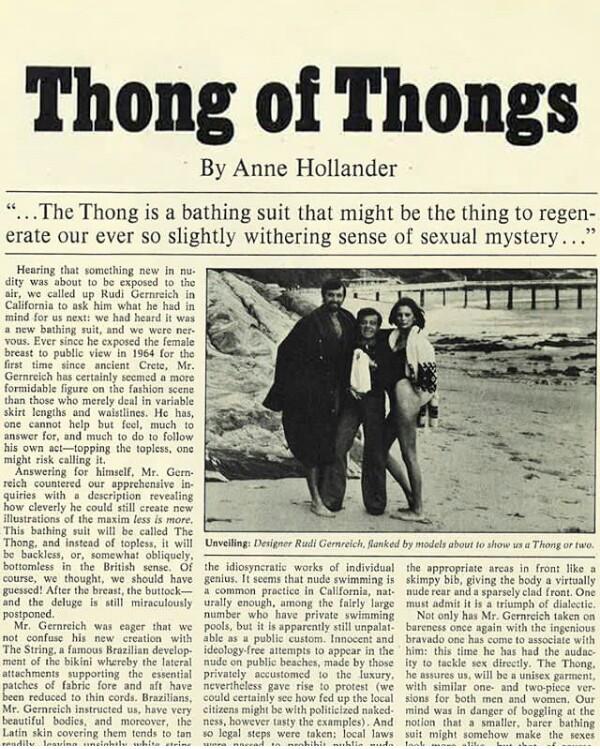 Thong of thongs